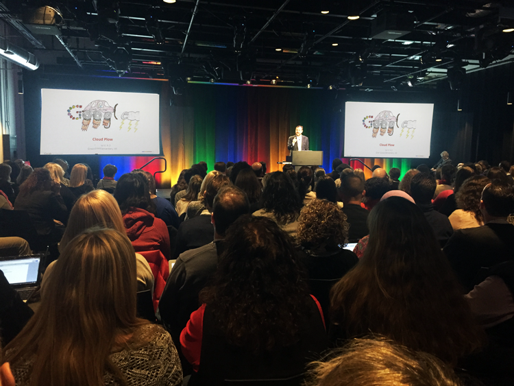 Justin Reich, co-founder of EdTechTeacher, speaks at Google Boston, during our 2015 Google for Education Conference.